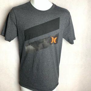 Hurley Mens Grey Graphic T-Shirt - Small